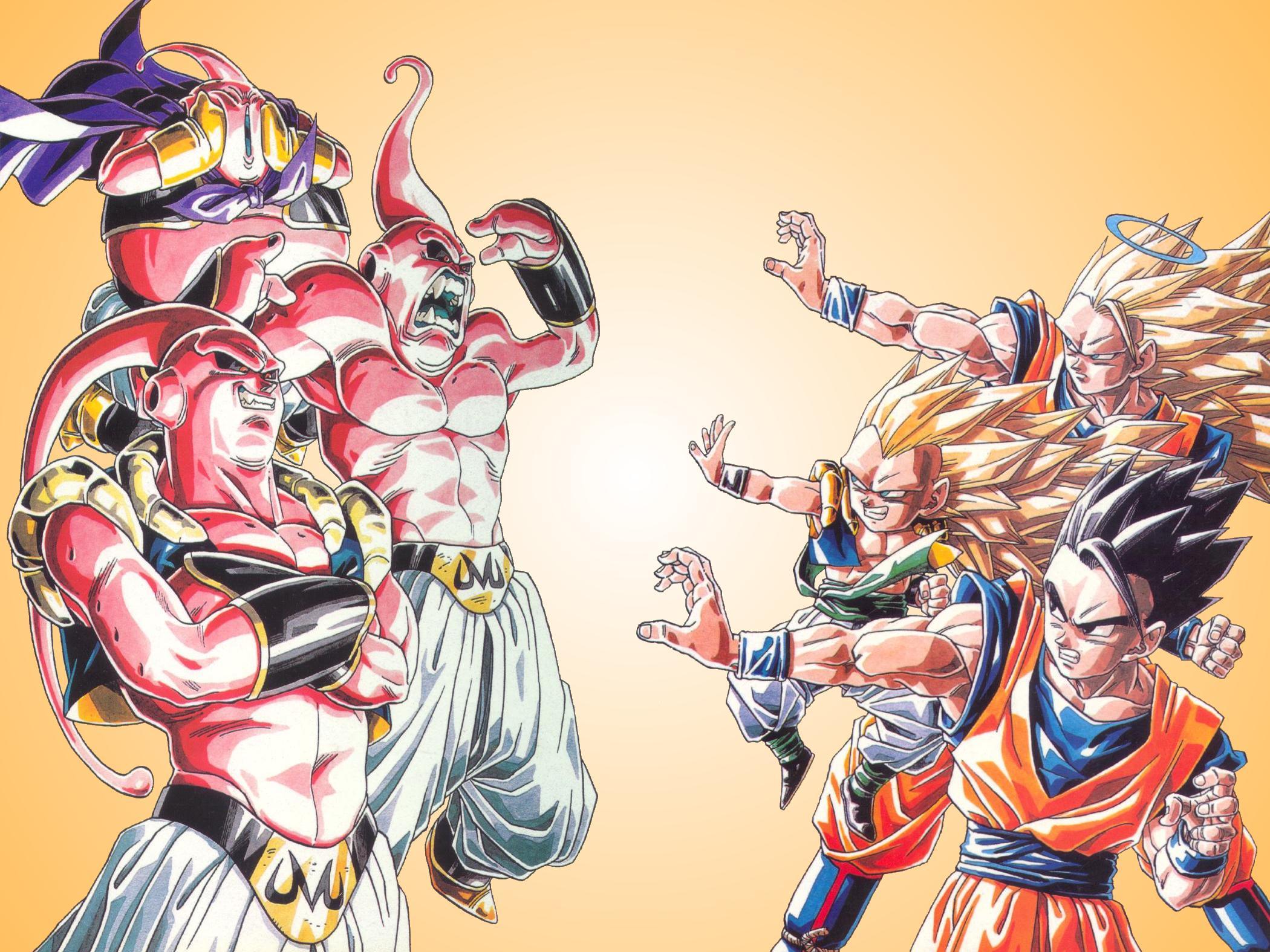 Todos contra el Monstruo Bu en la saga que dio por finalizado Dragon Ball Z